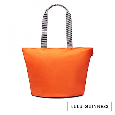 LULU GUINNESS LOLA 托特包-大 (橘)
