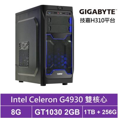 技嘉H310平台[東海殺手]雙核GT1030獨顯電玩機