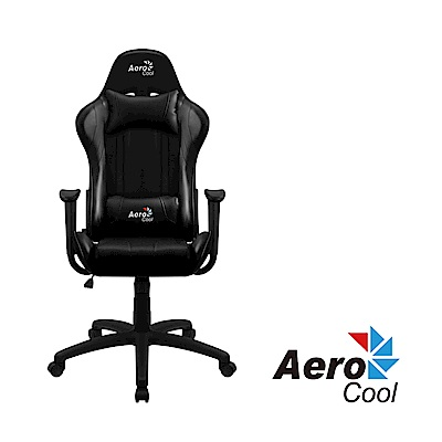 【Aerocool 愛樂酷 】AC100 AIR系列 競速超跑電競賽車椅(尊爵黑)