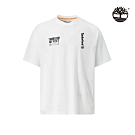 Timberland 男款白色休閒寬鬆圓領T恤|A28NN