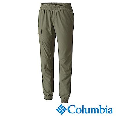 Columbia哥倫比亞 女款-抗UV50快排束口長褲-灰綠UAR18150GG