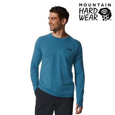 【美國 Mountain Hardwear】Mountain Stretch Long Sleeve 彈性快乾長袖排汗衣 男款 裏海藍#1942341