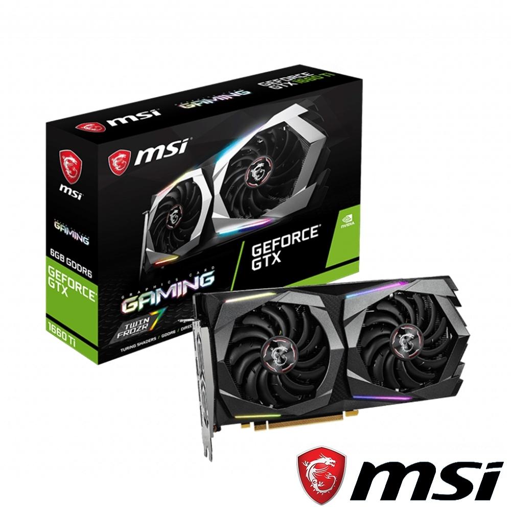MSI微星 GeForce GTX 1660 Ti GAMING 6G 顯示卡