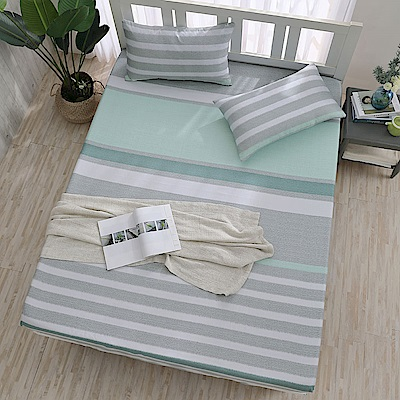 岱思夢 雙人 天絲床包枕套三件組(3M專利吸濕排汗技術) 半青