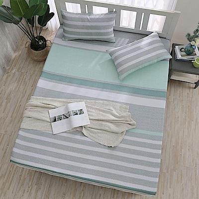 岱思夢 加大 天絲床包枕套三件組(3M專利吸濕排汗技術) 半青