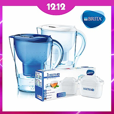 [再送濾芯3入]BRITA 3.5LMarella馬利拉濾水壺(含濾芯1入)