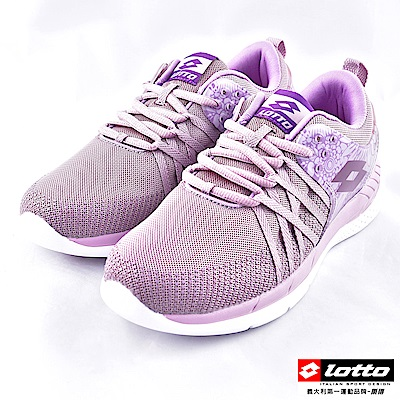 LOTTO 女款輕量透氣慢跑鞋~藕紫 LT8AWR6827