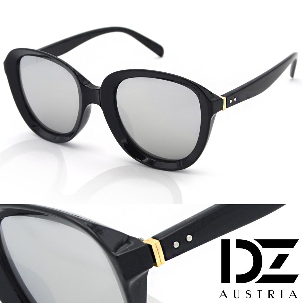 DZ 狂想美學 抗UV太陽眼鏡 墨鏡(黑框水銀膜)
