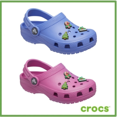 [領券再折]【雙12搶先跑買就送鞋扣】Crocs卡駱馳經典款(2款任選)(14cm-20cm)