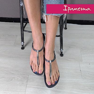 IPANEMA典雅奢華T字涼鞋-深灰色/灰色