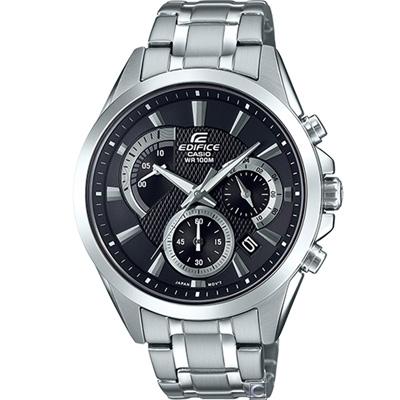 CASIO EDIFICE 扇形逆跳計時腕錶(EFV-580D-1A)43.8mm