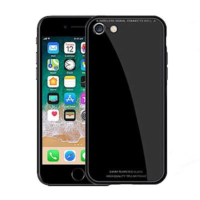 Carlgold 琉璃系列 iPhone 7/8 (4.7) 硅膠+金屬框玻璃保...