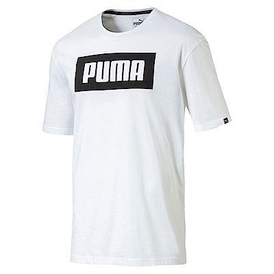 PUMA-男性基本系列大Rebel短袖T恤-白色-亞規