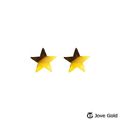 Jove gold 閃亮焦點黃金耳環-小