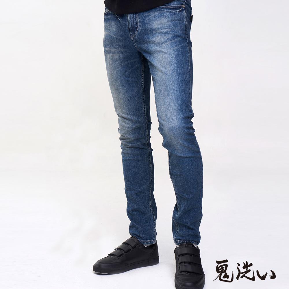 鬼洗 BLUE WAY 復古彈力窄版錐型褲(705)