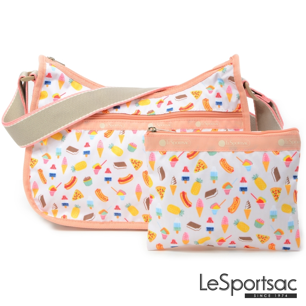 LeSportsac - Standard側背水餃包/流浪包-附化妝包 (夏季點心)
