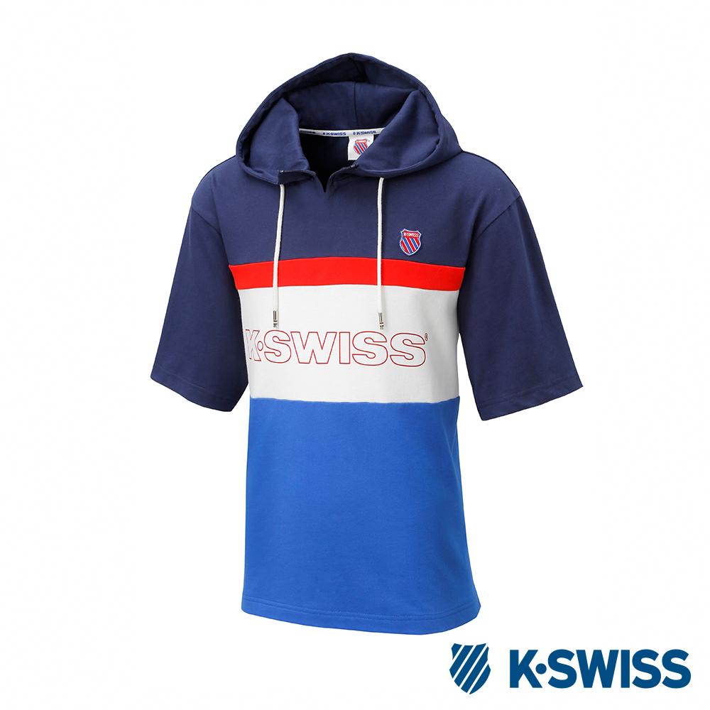 K-SWISS Hood T-Shirt短袖連帽上衣-男-深藍