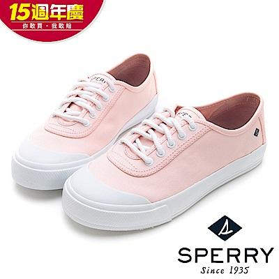 SPERRY 韓版清新潮流粉彩亮麗帆布休閒鞋(女)-亮粉