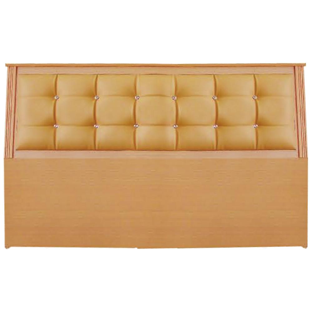 綠活居 艾爾利時尚6尺水鑽皮革雙人加大床頭片(三色可選)-180x12x96cm免組