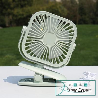 Time Leisure 大風力可夾式USB充電方形電風扇/含夜燈功能