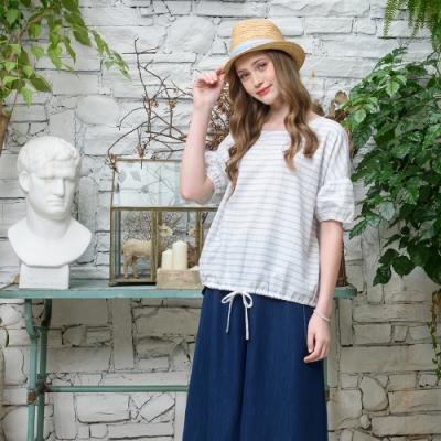 【CUMAR】清爽條紋-女短袖襯衫(二色/版型適中)