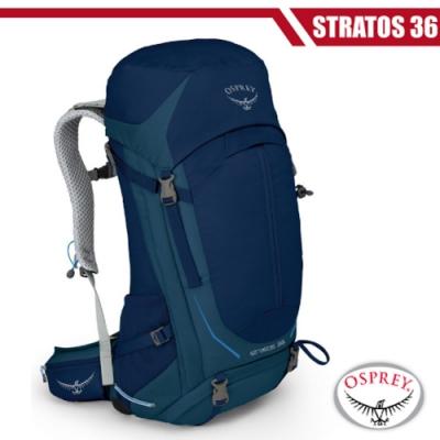 OSPREY 新款 Stratos 36 透氣立體網架健行背包_暗夜藍 R