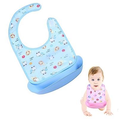 【粉嫩Baby】可拆式寶寶圍兜 (3入組) 顏色隨機