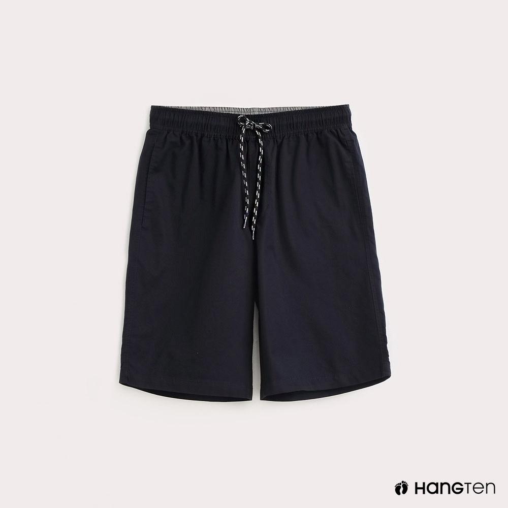 Hang Ten-男裝-抽繩綁帶百慕達褲-藍