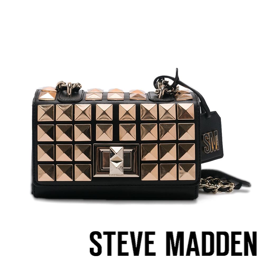 STEVE MADDEN-BASTUD 金鉚釘方扣包-黑色