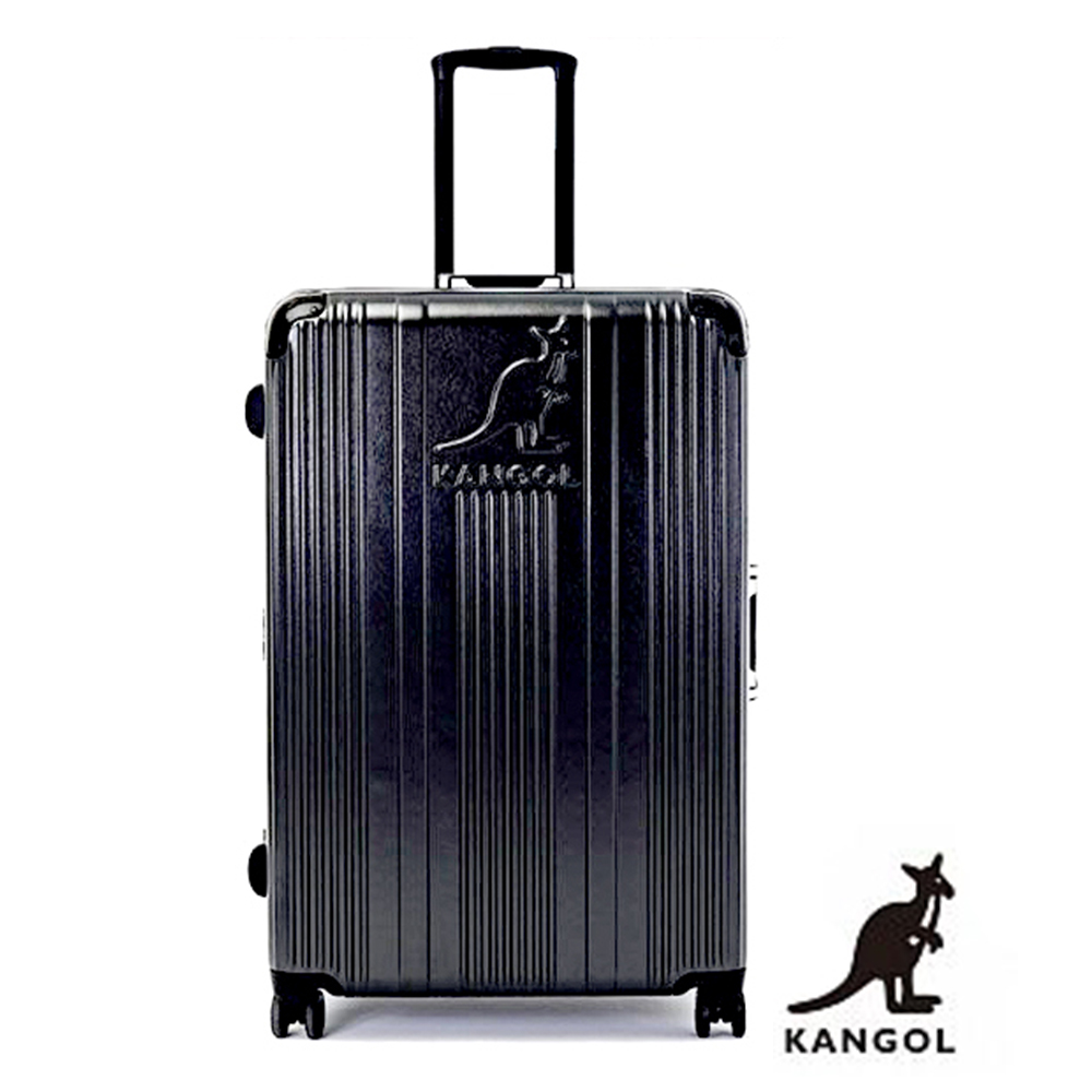 DF travel - 英國袋鼠優雅直線立體髮絲紋鋁框20吋行李箱