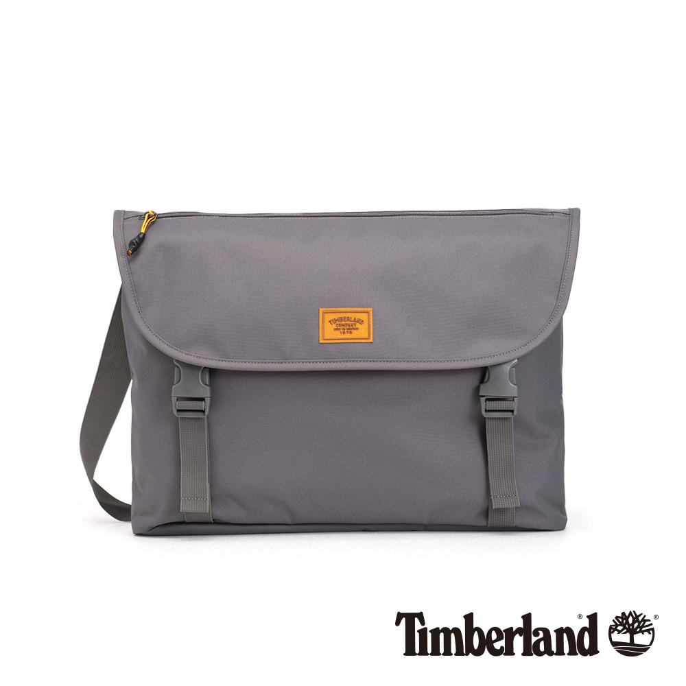 Timberland 中性灰色雙扣斜肩郵差包|A1CYO