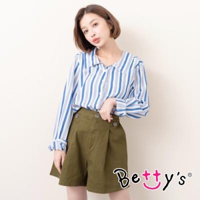 betty's貝蒂思 壓摺舒適寬口短褲(軍綠色)