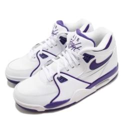 Nike 休閒鞋 Air Flight 89 運動 男鞋 經典款 復古 簡約 球鞋 穿搭 白 紫 CN0050101