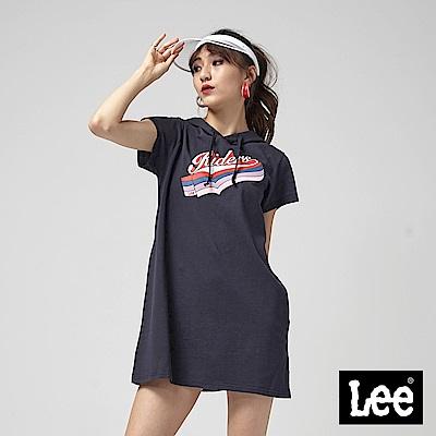 Lee 短袖RIDER連帽洋裝/RG-0-丈青