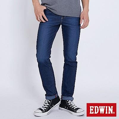 EDWIN JERSEYS 迦績修身極彈窄直筒牛仔褲-男-石洗綠