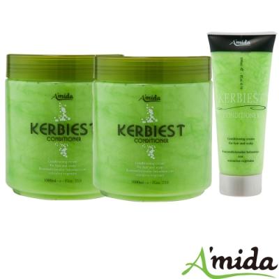 [時時樂限定] Amida 蜜拉葉綠素頭皮髮調理護髮素全家組(1000ml*2+200ml)