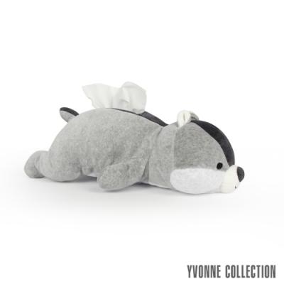 Yvonne Collection 趴趴松鼠立體衛生紙套-淺灰