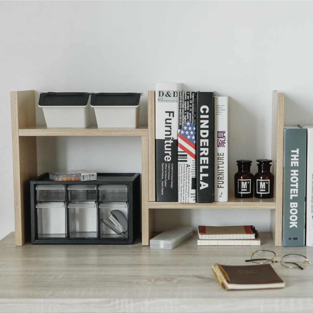 完美主義 創意伸縮書架/桌上型/收納架/桌上架(4色)