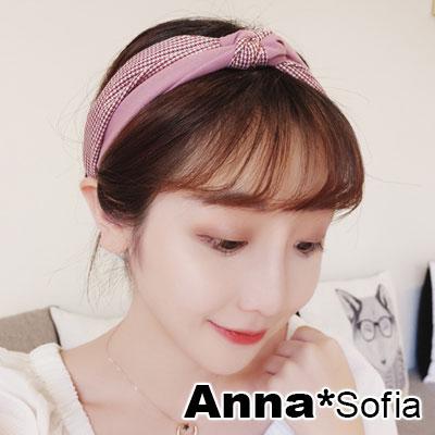 AnnaSofia 甜美星點雙拼繞結 彈性寬髮帶(紅粉系)
