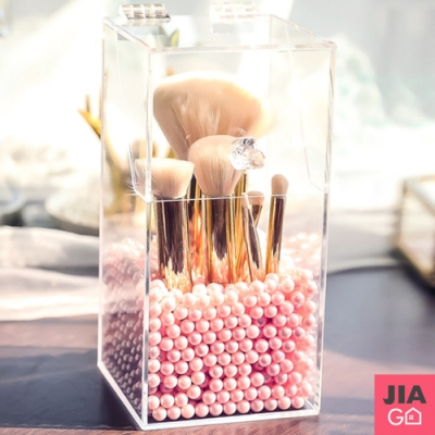 JIAGO 透明防塵珍珠刷具桶