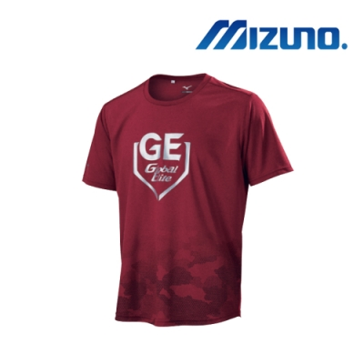 Mizuno 美津濃 男GE短袖T恤 酒紅 12TC9L5361