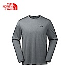 The North Face北面男款灰色吸濕排汗戶外長袖T恤|2XX1HAT