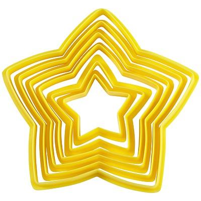《Wilton》餅乾切模6件(黃星)