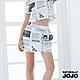 【NATURALLY JOJO】報紙滿版印花褲裙  (白) product thumbnail 2