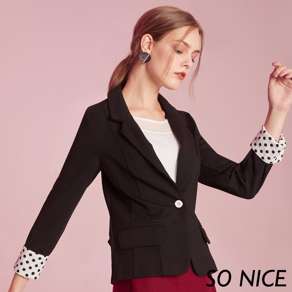 SO NICE俐落西裝羅馬布外套 @ Y!購物