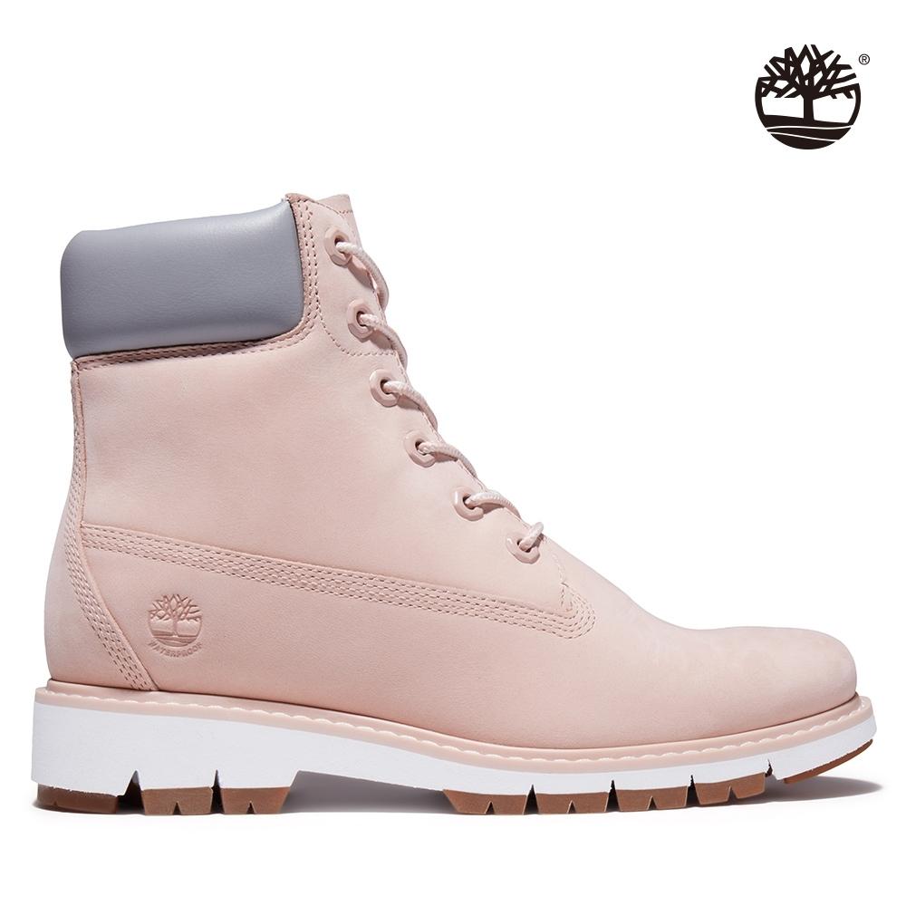 Timberland 女款淺粉色磨砂革LUCIA WAY防水6吋靴|A2EU4
