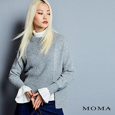 MOMA 雙開衩前短後長毛衣