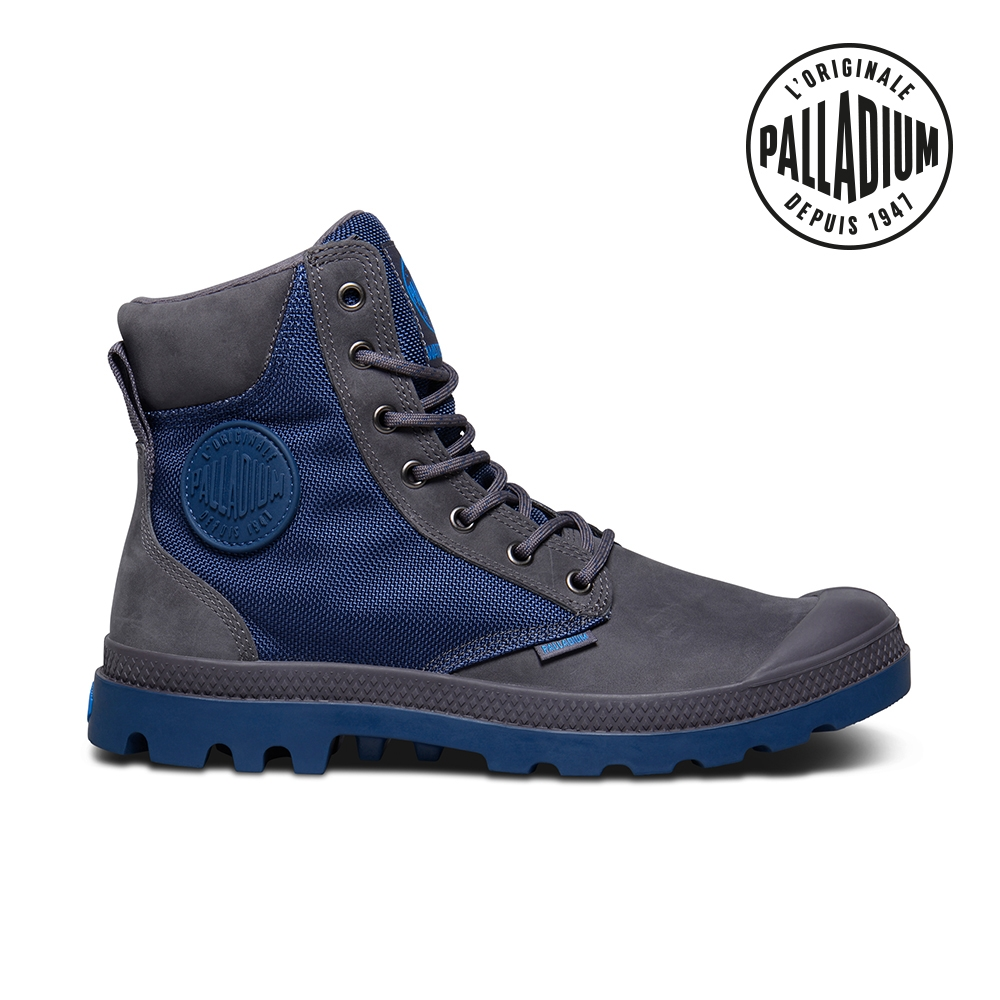 PALLADIUM PAMPA SPORT CUFF WPN彈道尼龍防水靴-中性-藍