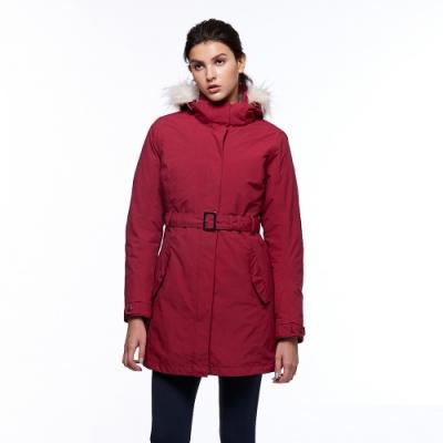 【HAKERS 哈克士】女 三合一防水長版外套(紅色)