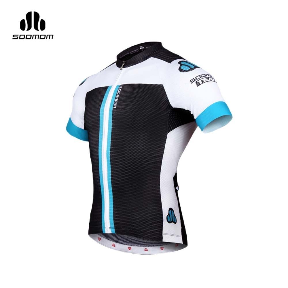 SOOMOM GTR 男短袖車衣-速盟 自行車 單車 防曬 黑湖水綠